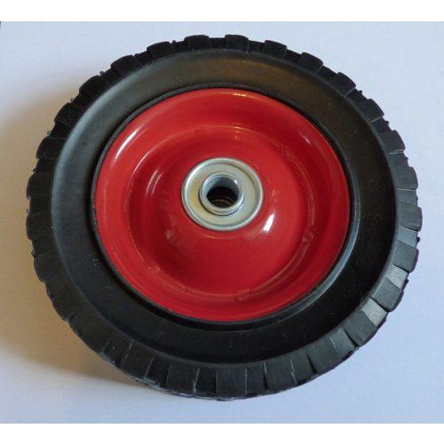 Fűnyírókerék - fém - gumírozott - csapágyazott 150mm