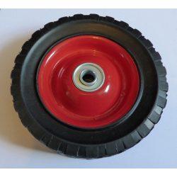 Fűnyírókerék - fém - gumírozott - csapágyazott 200mm